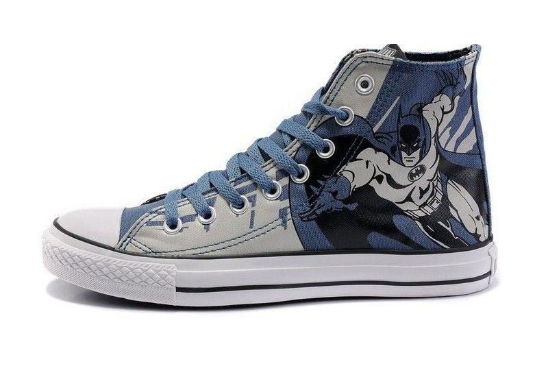 14fac9d4d6e1 Converse Shoes Multi Blue DC Comics Batman Caped Crusader Womens Mens Canvas  Hi Sneakers