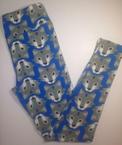 262a91767dc4db LuLaRoe-WOLF-Leggings-RARE-BLUE-Yoga-OS-Super-Soft-NWT-LulaRoe-FOX-Pants- WOLVES