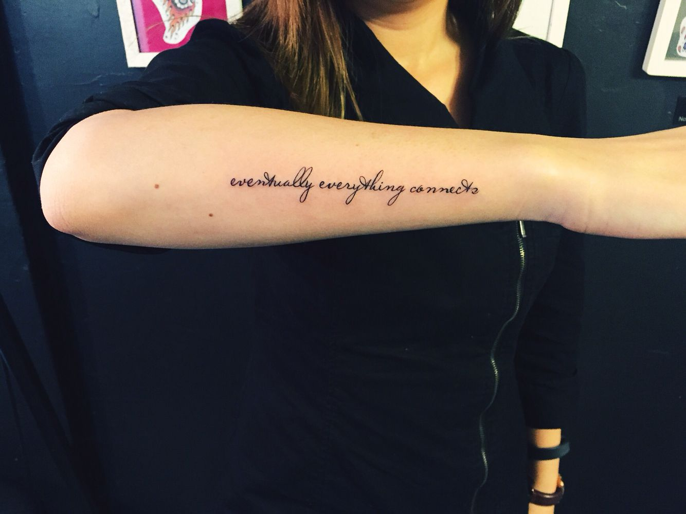 Tattoo Text Script Word Scripttattoo Arm Outer Forearm