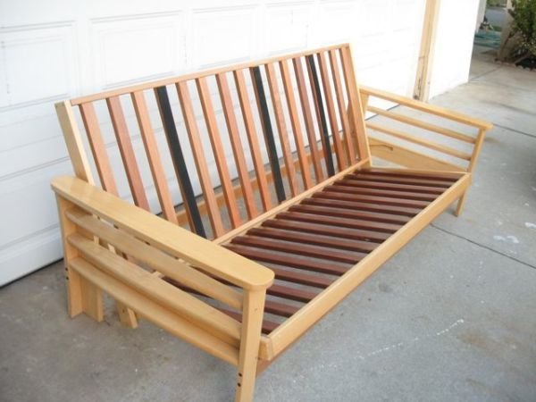 Medium image of san jose    beautiful wood futon frame  teak and birch hardwood  can