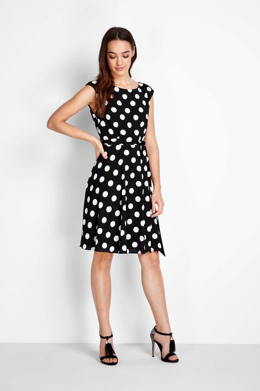 ae2e35d802e60 Petite Black Spot Dress | Petite Style | Petite Fashion, Dresses, Petite