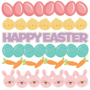 Daily Freebie 3-26-14: Miss Kate Cuttables--Easter Borders SVG cutting files easter egg svg cut file easter eggs cut files for scrapbooks