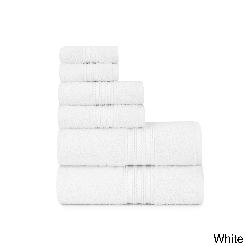 Luxurious Soft Ring Spun 6 Piece Cotton Bath Towel Set With Bath