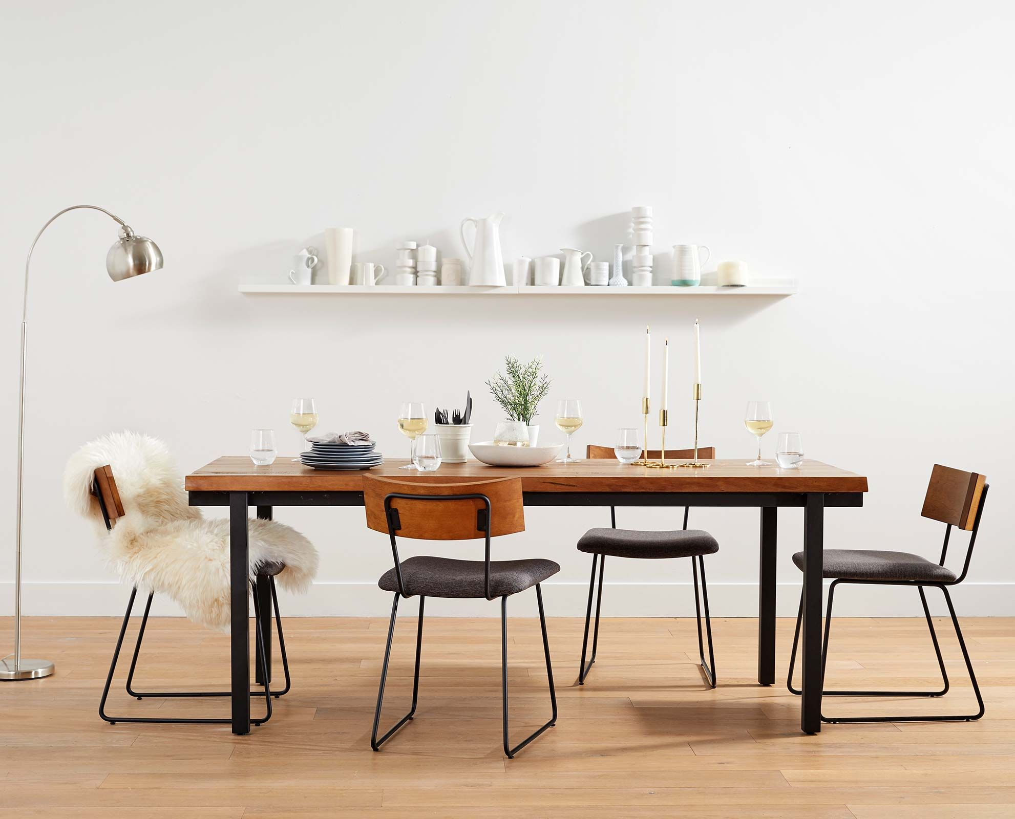 Dania - The traditional farm table meets rustic industrial style ...