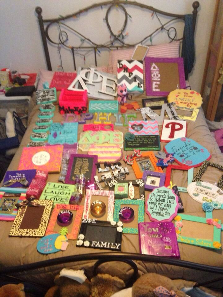 Sorority crafts big little delta phi epsilon dphie for Sorority crafts for little
