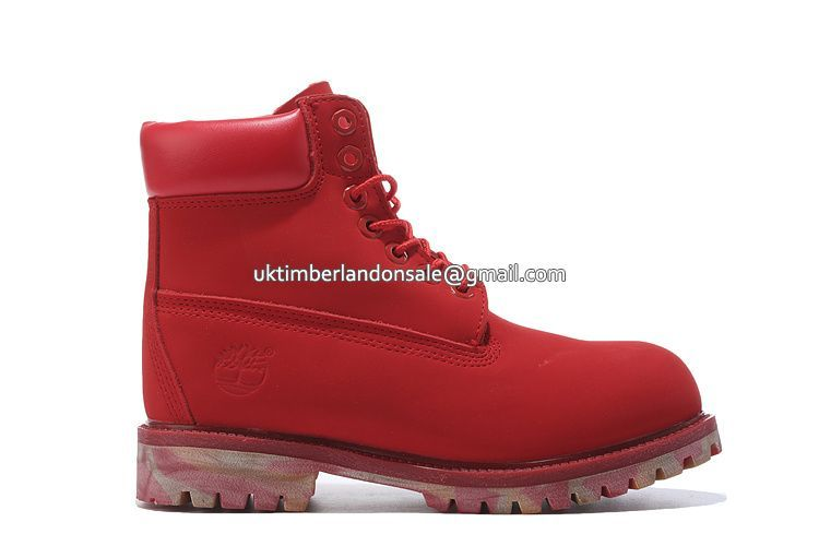 UK Autehntic Timberland Women 6 Inch Red Camo Premium Boots £ 69.59