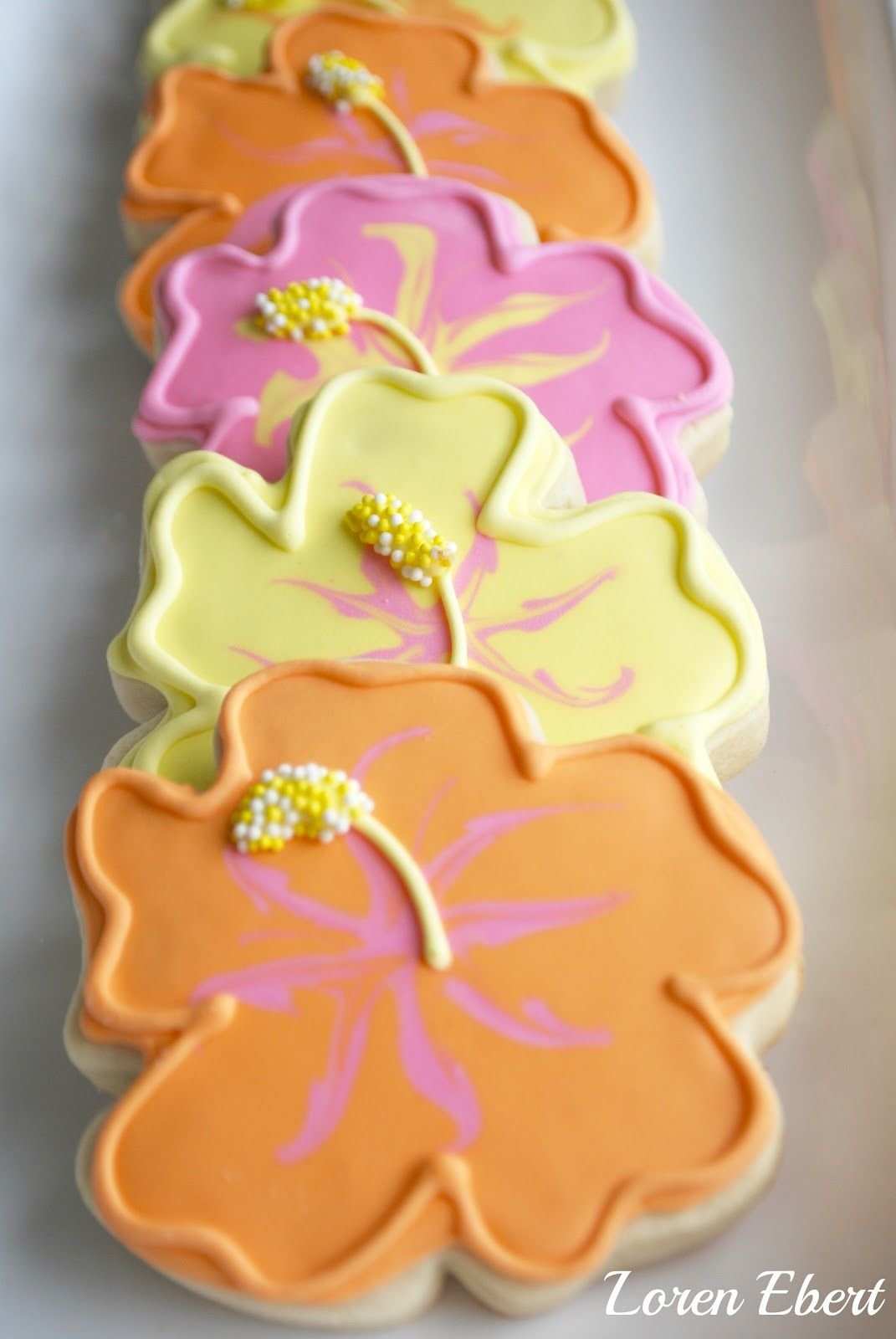 The Baking Sheet Hibiscus Flower Cookies Servents Coming Out And