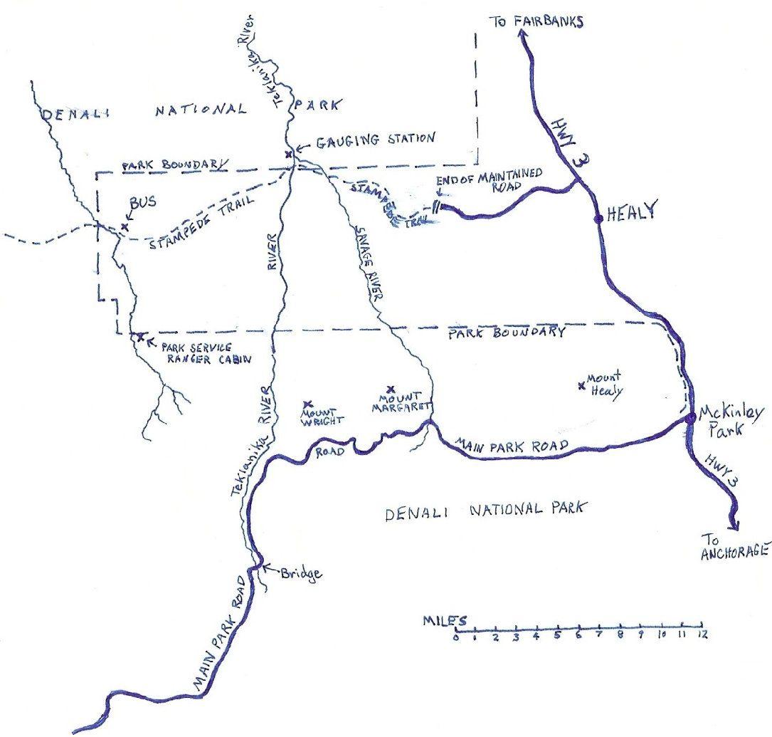 The Map Mccandless Chris Mccandless Christopher Mccandless