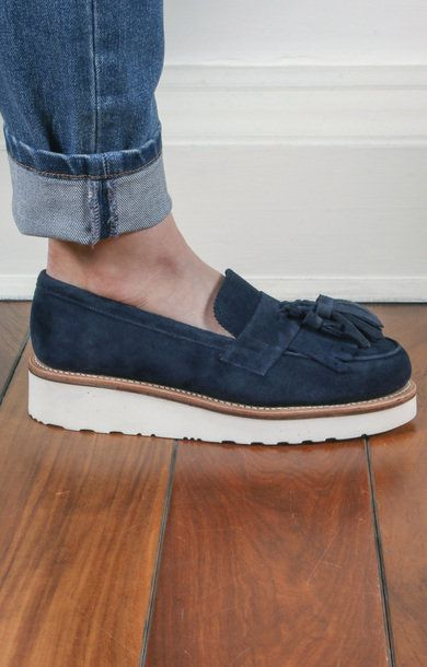 2aaab7caff0 Clara Suede Loafer Navy