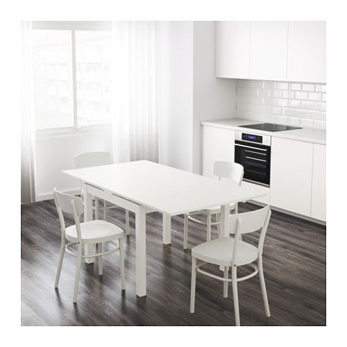 Charming IKEA   BJURSTA, Extendable Table, White , 2 Pull Out Leaves Included.Dining  Table With 2 Pull Out Leaves Seats Makes It Possible To Adjust The Table  Size ...