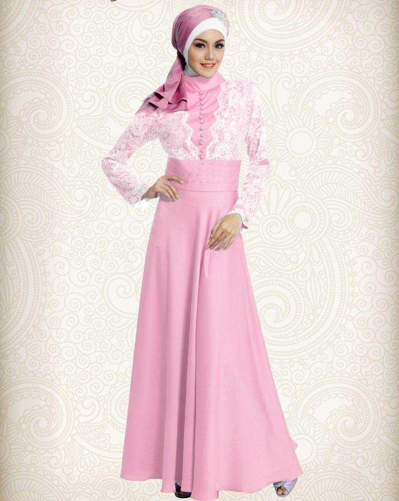Gamis Pesta Modern Pink Cavalli Elegan Http Gamispesta