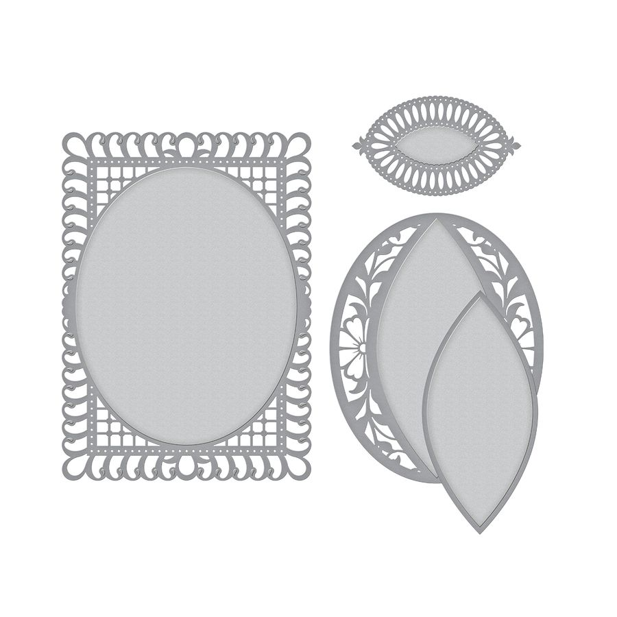 Shapeabilities Bella Rose Lattice Layering Frame Large Etched Dies ...