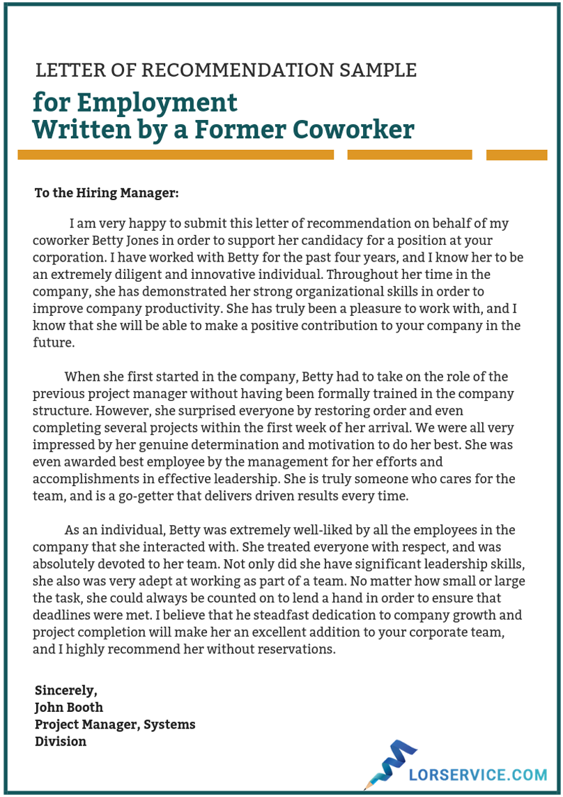 Letter for a Coworker Sample on Behance