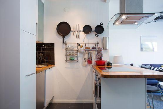 37 m², cocina con península y walk-in-closet