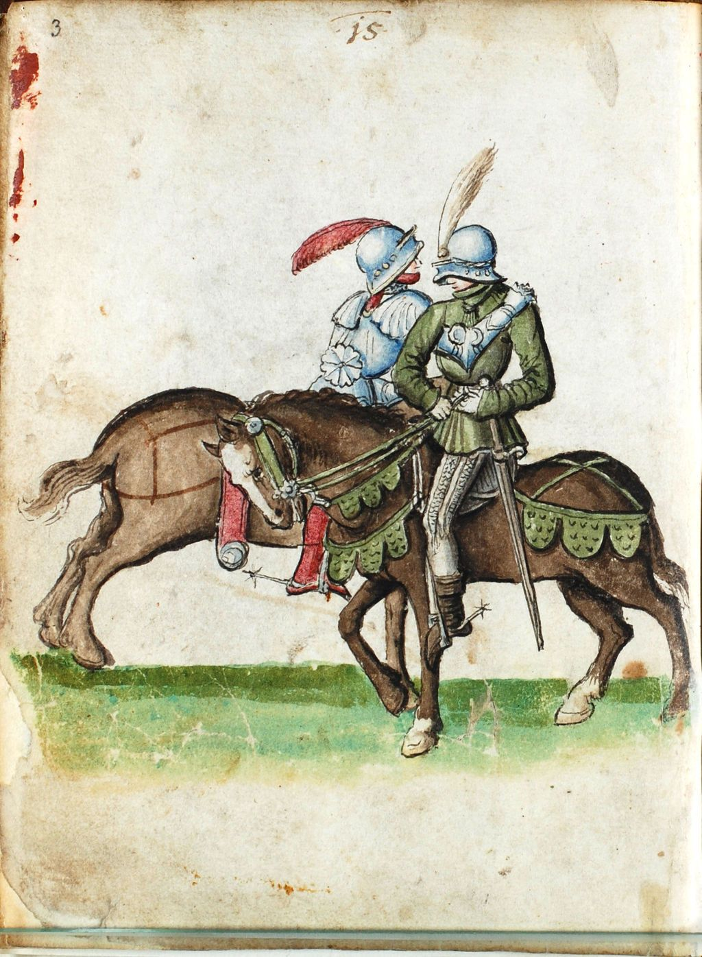 The Codex S.554 is an early 16th century copy of Paulus Kal's fencing manual of ca. 1470. The original currently rests in the holdings of the Zentralbibliothek Solothurn in Solothurn, Switzerland. The paper of the manuscript bears a watermark that was used between 1506 and 1514, though it may have been created after that.[1] Unfortunately, the manuscript survives only in fragmentary form: just 30 of the original 62 folia remain, including only 57 illustrations.