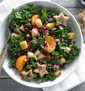 Check out this delicious recipe for Kale & Fruit Holiday Salad from 25 Merry Days at Kroger!