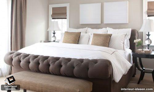 slaapkamer-voorbeeld-bruin-5 - woonideeën | Pinterest - Bruine ...