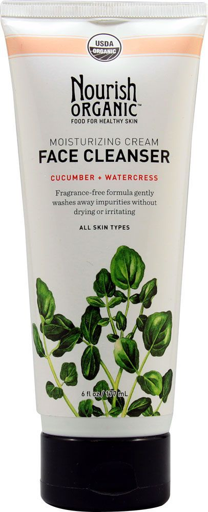 Nourish Organic Moisturizing Face Cleanser, Cucumber & Watercress, 6 Fluid Ounce Personal Best Products Betwixt Skin Lube & Chamois Creme Skin Care 8oz