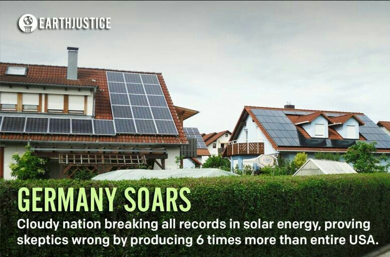 Grt For Germany Come On Usa Get W The Program Amp Use Renewable Energy For Our Kids Our Planet Amp Ourselves Solar Solar Energy Solar Panels