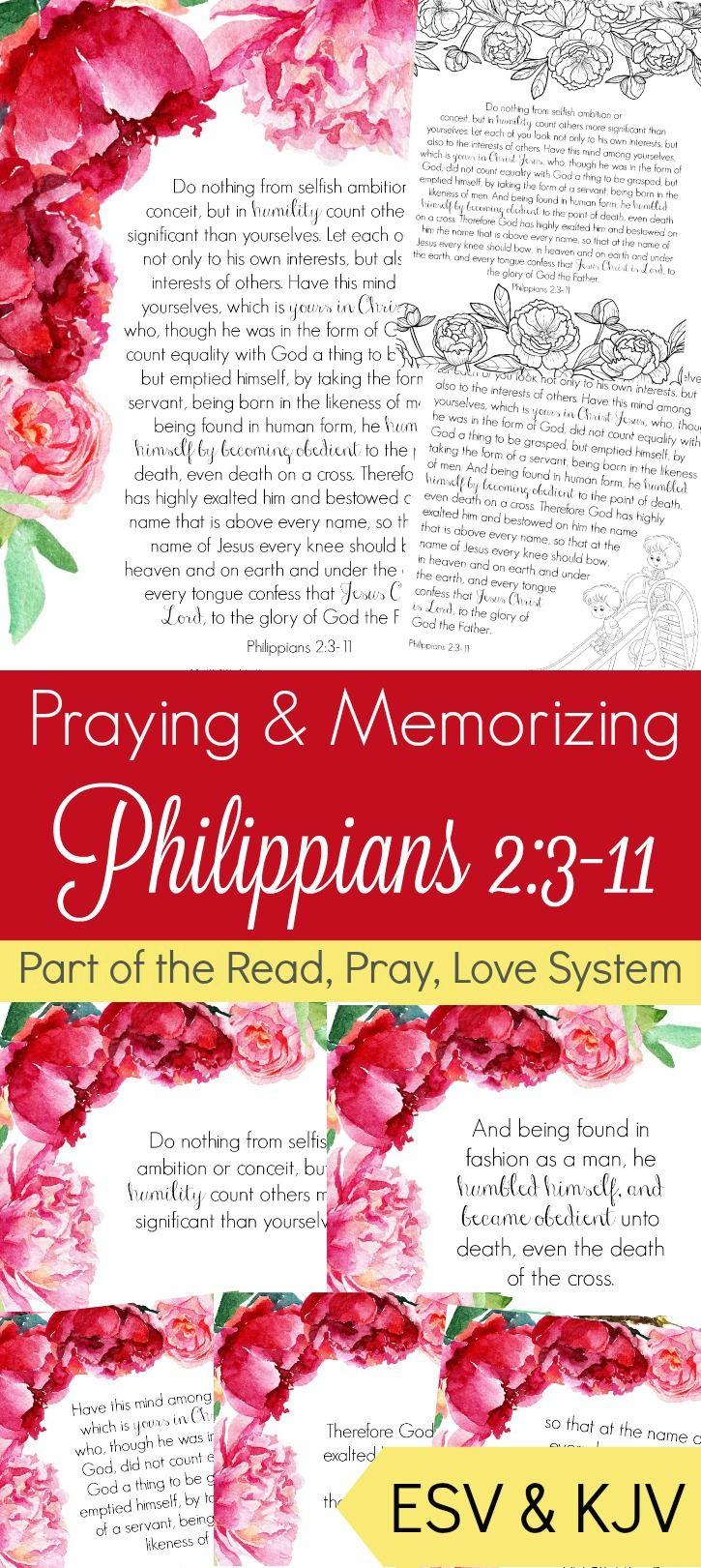 Thinking Of Others Praying And Memorizing Philippians 23 11