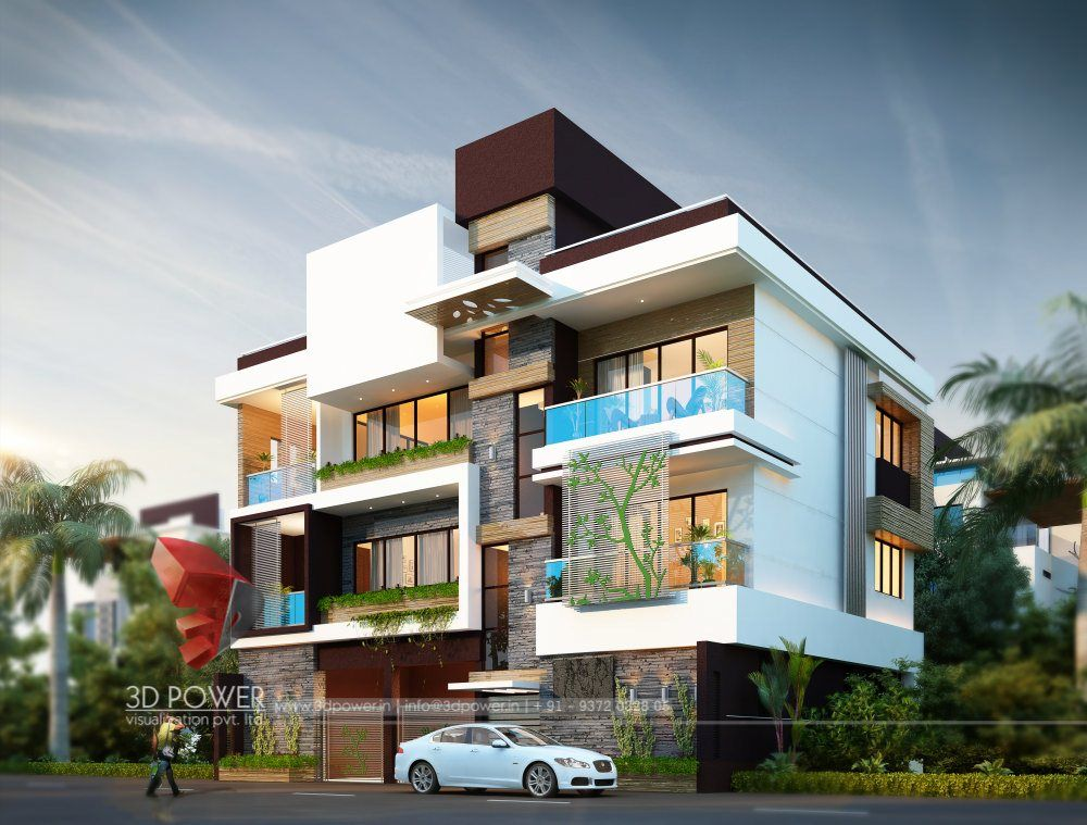 rendering of modern bungalow designs house elevation also pin by ravi jain on single floor in rh pinterest