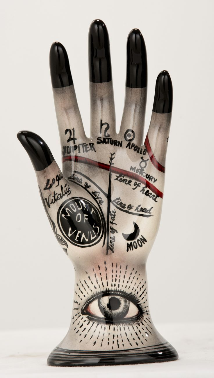 Ceramic hand showing palmistry lines - Google Search