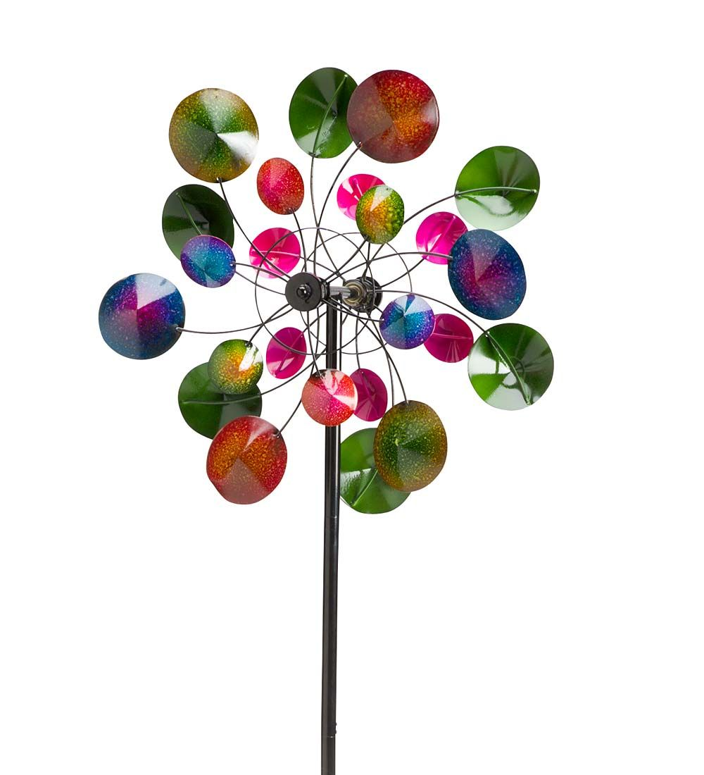 Wind U0026 Weather Kaleidoscope Metal (Grey) Wind Spinner For Gardens