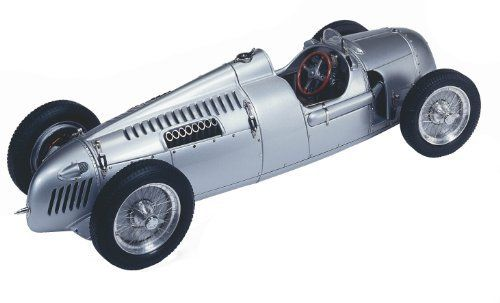 CMC Auto Union Type C, 1936 1:18 Scale by CMC-Classic Model Cars, USA. $241.99. From the Manufacturer                A 1:18 scale precision model of the revolutionary Auto Union Type C, driven by Bernd Rosemeyer. The Type C used a new innovative design.  The 520 hp V-16 engine was mounted behind the driver and ahead of the rear axle.  Although this is a normal race car practice today, it was ground-breaking in 1936. Top speed: 340 km/h (211 mph). The Auto Union T...