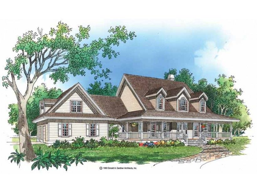 farmhouse house plan with 3352 square feet and 5 bedrooms from dream home source house - Cottage Plans Farmhouse Style
