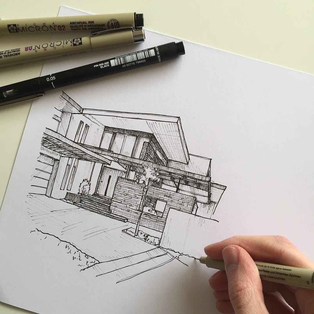 Архитектурные картинки из карандаша