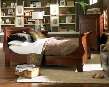 Thomasville bedroom furniture thomasville sleigh bed martinique bed dresser nightstands for Thomasville white bedroom furniture