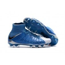 Nike Hypervenom Phantom Iii Df Fg Blue White Black Football