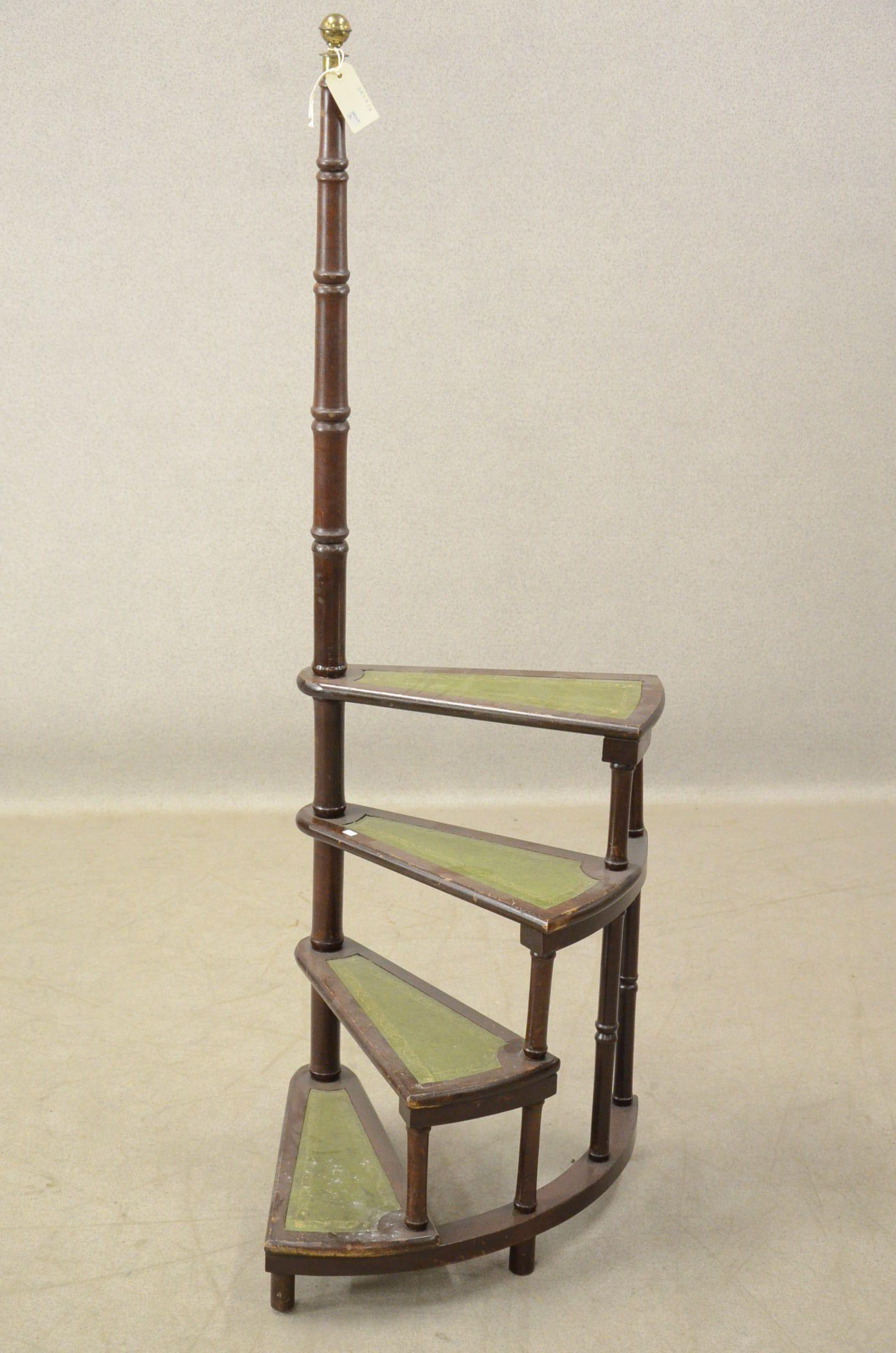 escabeau de biblioth que anglaise en acajou r alisation d 39 escalier l ves pinterest. Black Bedroom Furniture Sets. Home Design Ideas