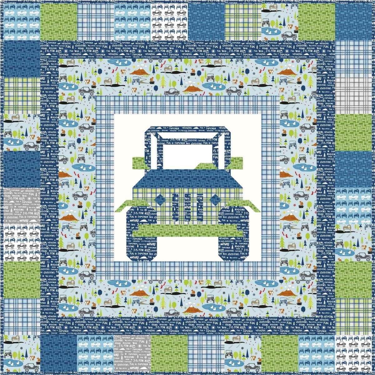 Off Road Jeep Quilt Pattern By Kelli Fannin Craftsy Quilt