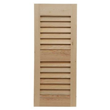 """StyleCraft 29"""" x 104"""" Traditional Louvered Cypress Exterior Shutters (Pair). Custom-made. Southern styling. Authentic Bald Cypress wood shutters. Screw and dowel joint construction. Painting, priming, and staining options available. May be mounted with operable or decorative hardware. 1 year limited warranty. See site for additional sizes, materials, and options."""