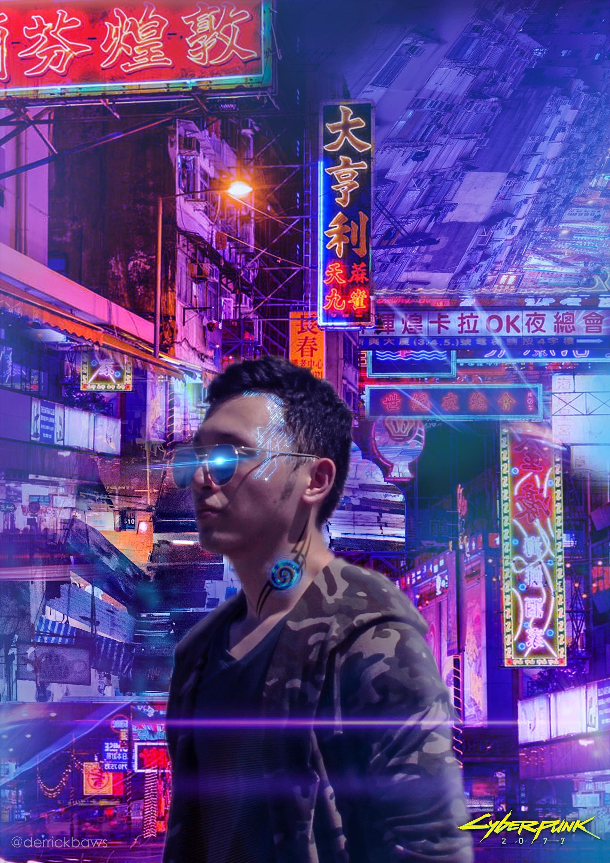 Photo Manipulation Cyberpunk Theme by Jonnathan Derrick