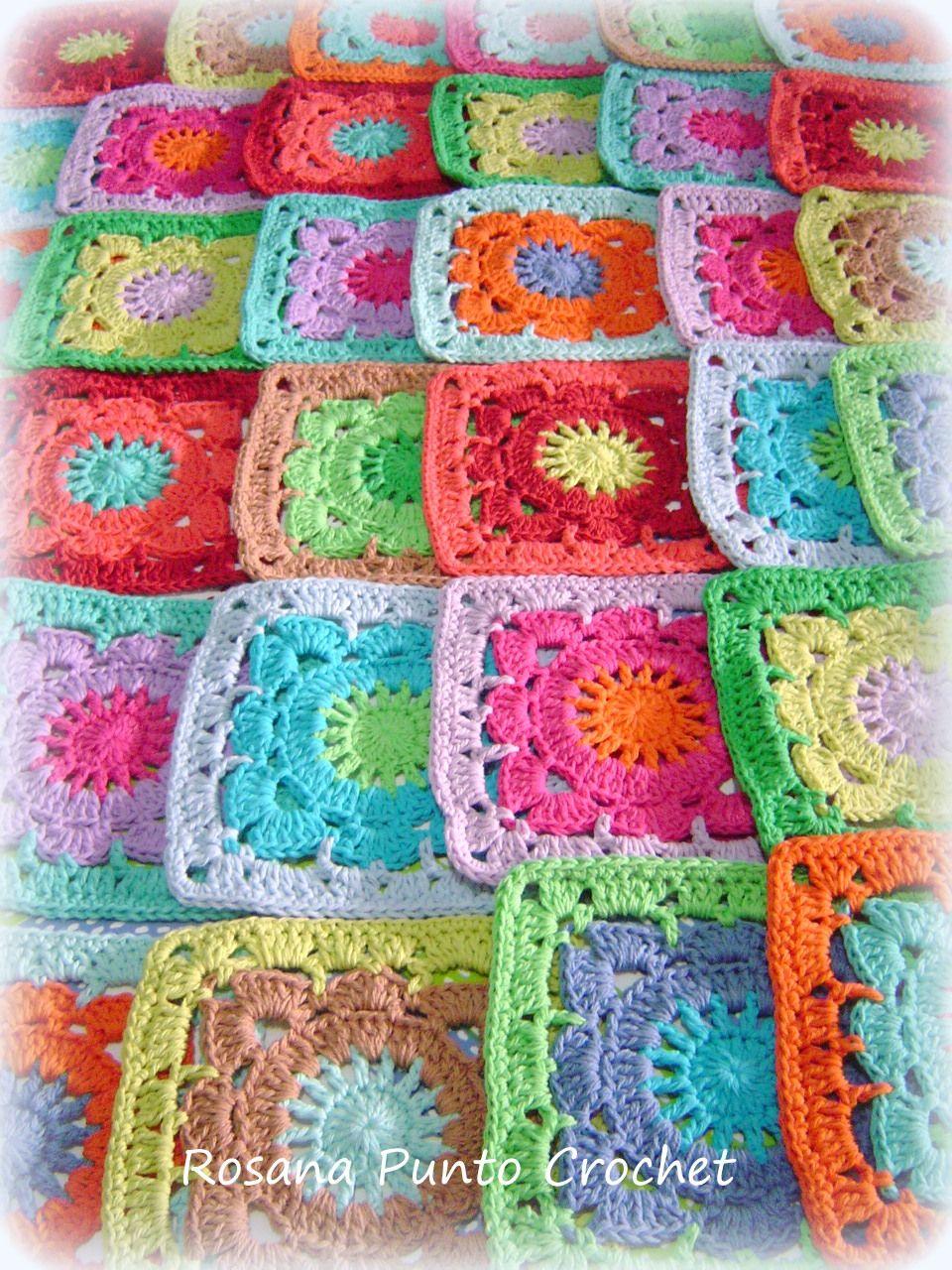 Distribuyendo los colores ... creando.   Crochet 1   Pinterest