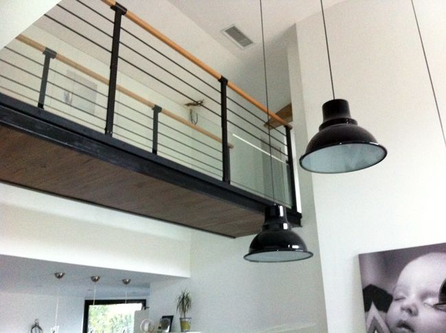 passerelle escalier pinterest passerelle mezzanine et escaliers. Black Bedroom Furniture Sets. Home Design Ideas