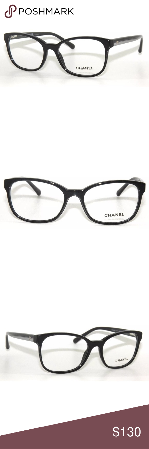 5956f2eda740 3313 BLACK EYEGLASSES 54mm NEW, COMES WITH CHANEL CASE CHANEL Accessories  Glasses