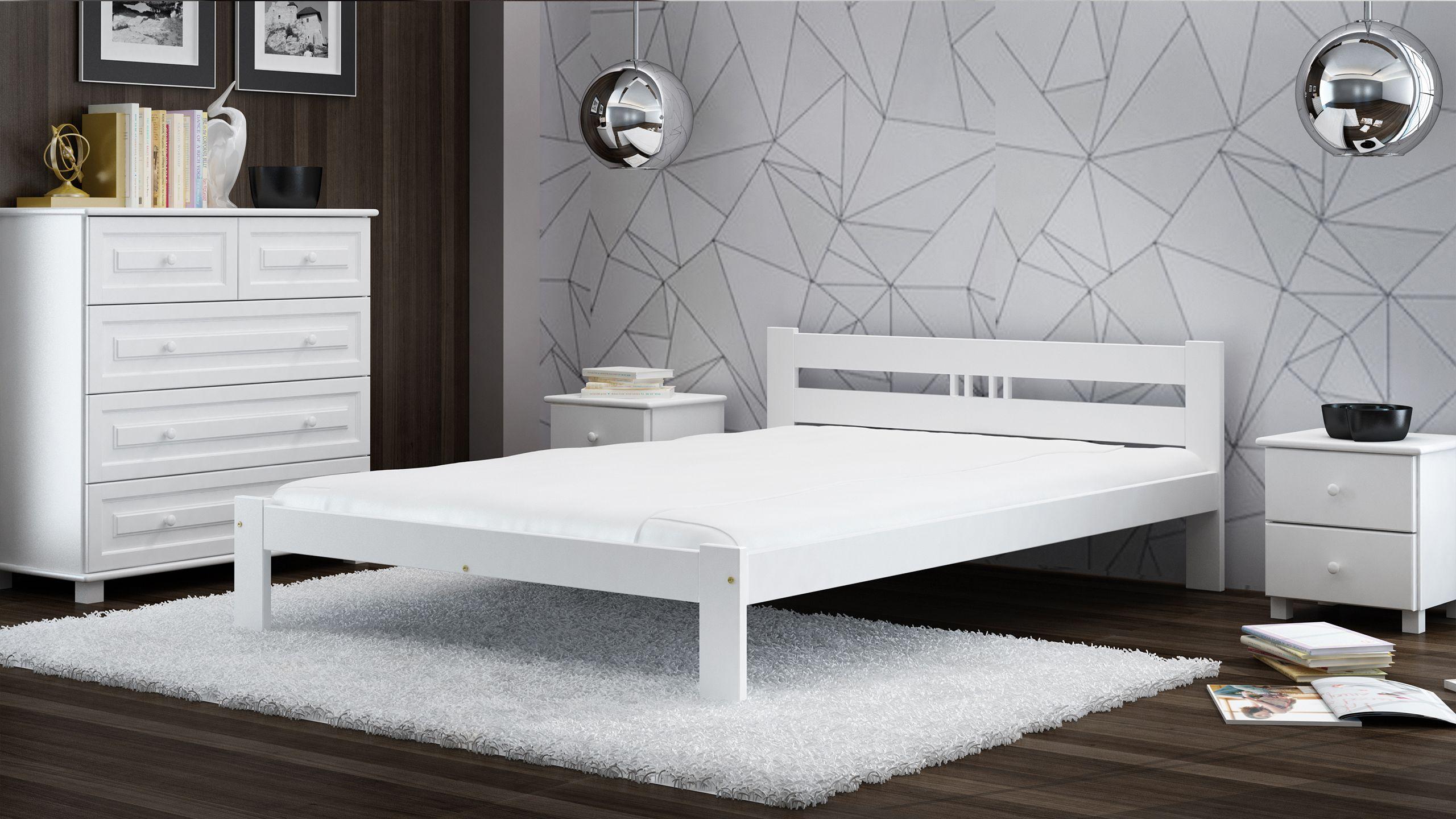 Weisses Bett Mit Matratze Und Lattenrost Garantiert Erholsamen