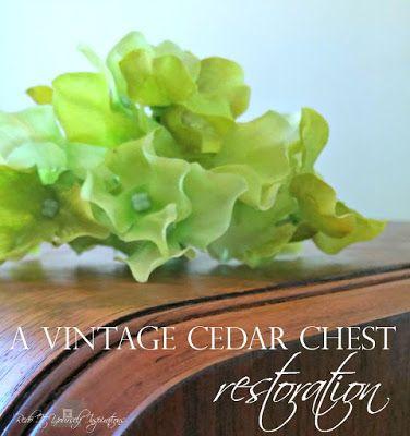 Cedar Chest Restoration   Redo It Yourself Inspirations : Cedar Chest…