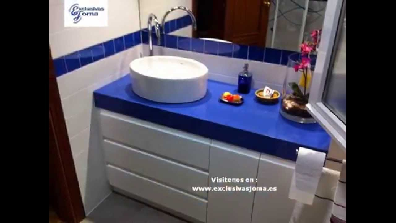 Reforma de baño en chalet Tres cantos.Silestone azul enjoy. Profiltek