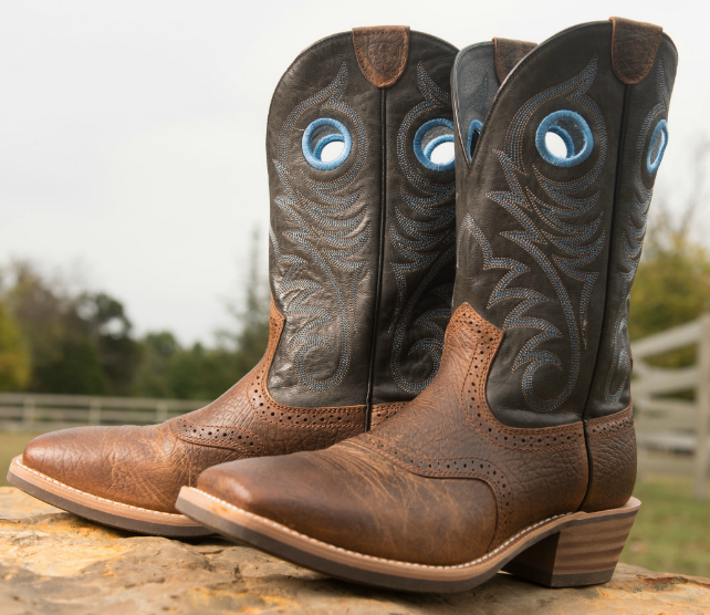 Ariat - Men's Heritage Roughstock Wide Square Toe Cowboy Boot ...