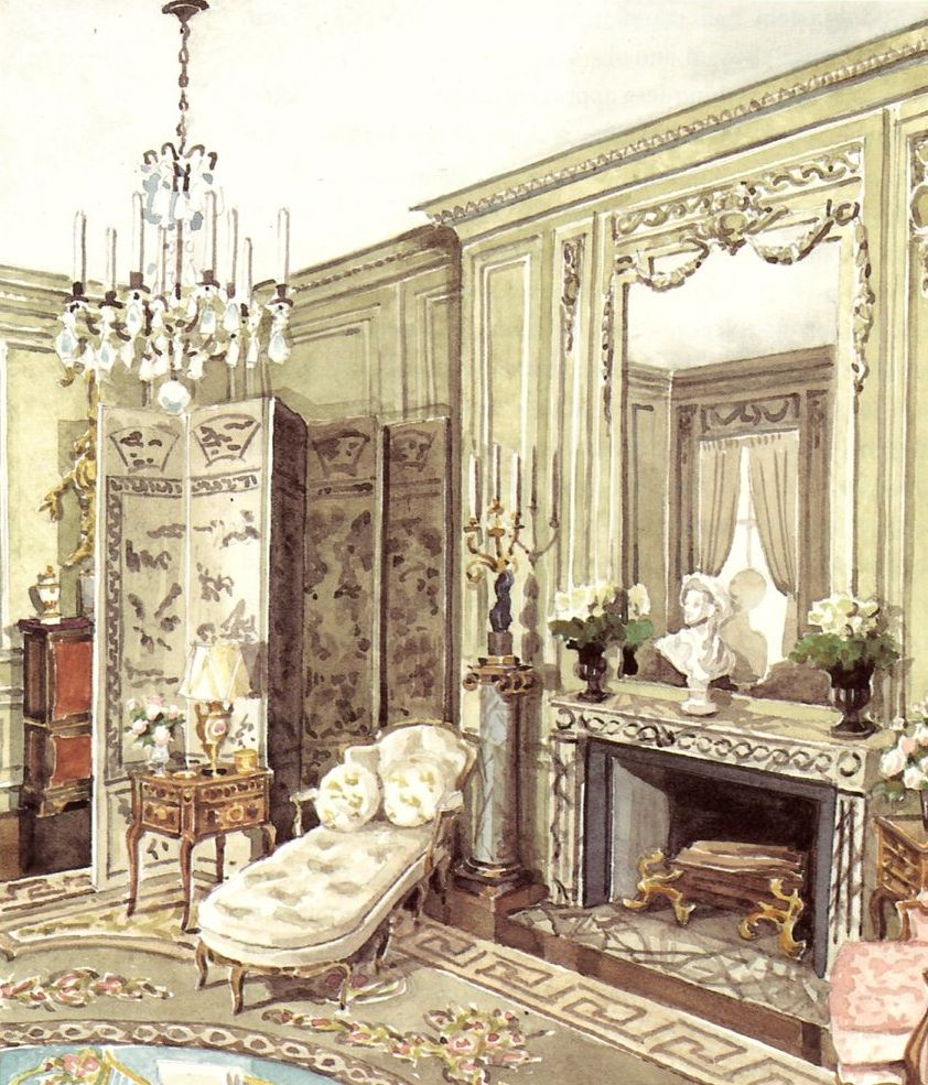 Mark d sikes chic people glamorous places stylish for Drawing hall interior decoration