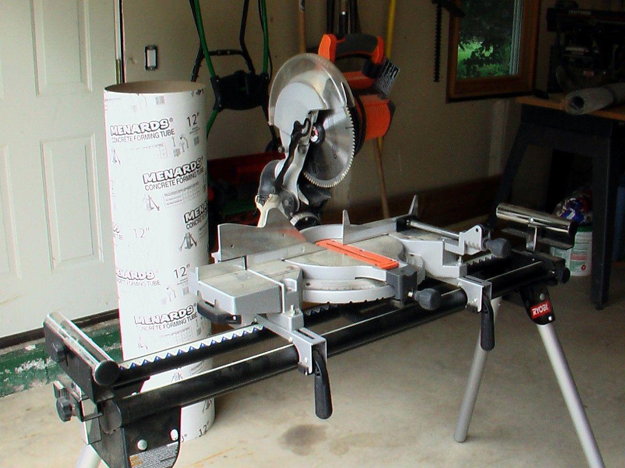 Rigid 10 In 254 Mm Compound Miter Saw W Exactline Laser In Moiisture S Garage Sale Madison Wi Ryobi Miter Saw Stand Miter Saw Garage Sales