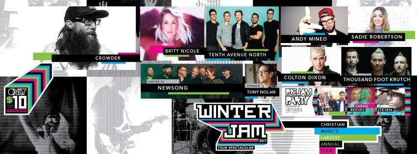 Winter Jam Rolls Out 2017 Lineup Colton Dixon Winter Contemporary Christian Music