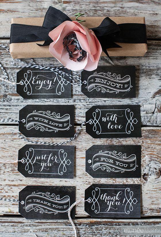 Invitations Paper Ideas Advice Chalkboard Gift Tags Gift Tags Printable Free Chalkboard Printables