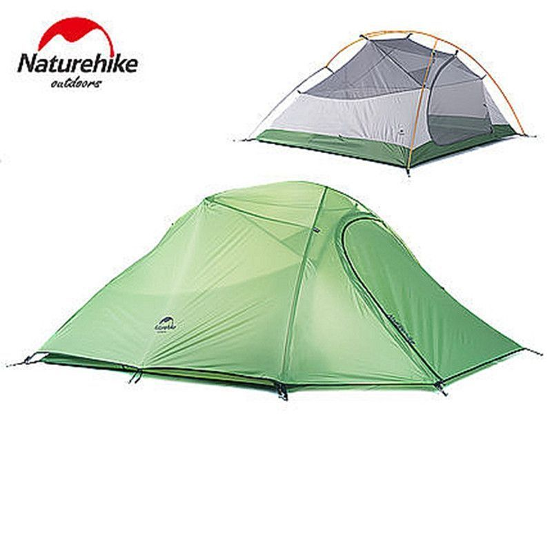 Naturehike C&ing Tent 3 Person Plaid Fabric Ultra light Double Layers Aluminum Rod Tent 4 Season  sc 1 st  Pinterest & Naturehike Camping Tent 3 Person Plaid Fabric Ultra light Double ...