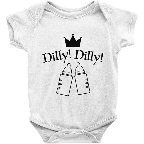 61b6ee8c8 Dilly Dilly Budweiser Beer onesie, Funny Baby Gift - Bud Light Beer Bodysuit  Pop Culture Hipster Gag Gift Baby Clothing Bottle Cheers Onesie