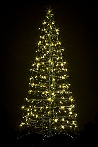 Pre-Lit LED 6′ Folds Flat Collaspsible Outdoor/Indoor Christmas Tree w 250  Warm White Lights-IMPORTED - Pre-Lit LED 6′ Folds Flat Collaspsible Outdoor/Indoor Christmas Tree